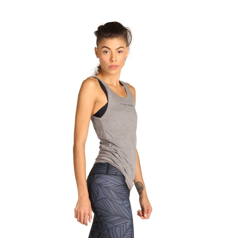 Yoga Democracy Graphic Top I Like Plants - Bamboo Organic Tank Tee
