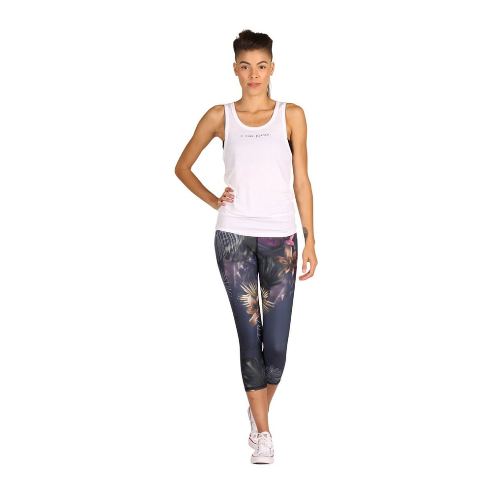 Yoga Democracy Leggings Palm Reader Printed Yoga Crops - Final Sale