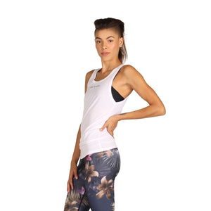 Yoga Democracy Apparel & Accessories > Clothing > Shirts & Tops I Like Plants - Bamboo Organic Tank Tee - White