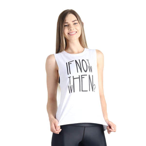Yoga Democracy Apparel & Accessories > Clothing > Shirts & Tops If Not Now When - Bamboo Organic Tank Tee - White