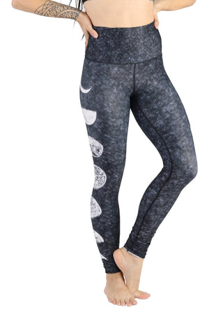 Yoga Democracy Leggings Just a Dark Moon Phase Printed Yoga Legging