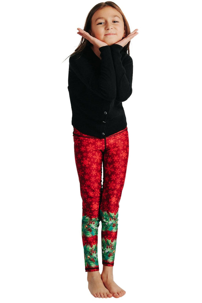 Kids Holiday Spirit Yoga Leggings