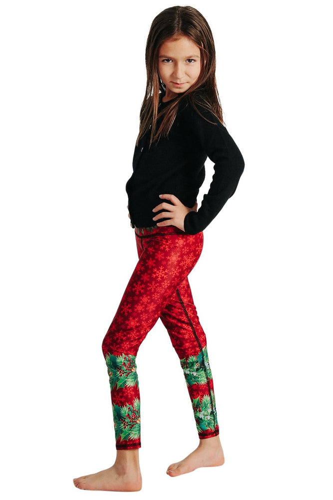 Kids Holiday Spirit Yoga Leggings (4366487683210)