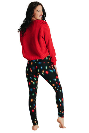 Yoga Democracy Leggings Light Me Up Printed Yoga Leggings
