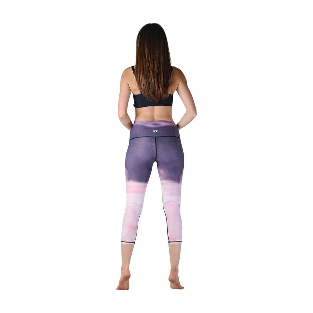 American Made Leggings by Yoga Democracy Lunar The Better Printed Yoga Crops - Final Sale