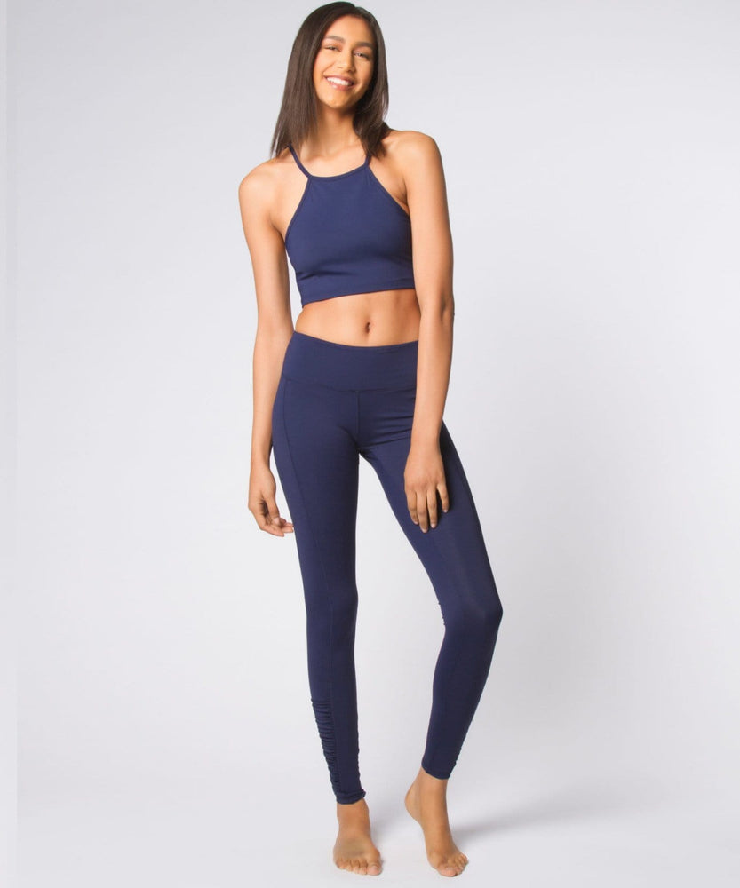 Yoga Democracy Sports Bras Navy Long Line Top