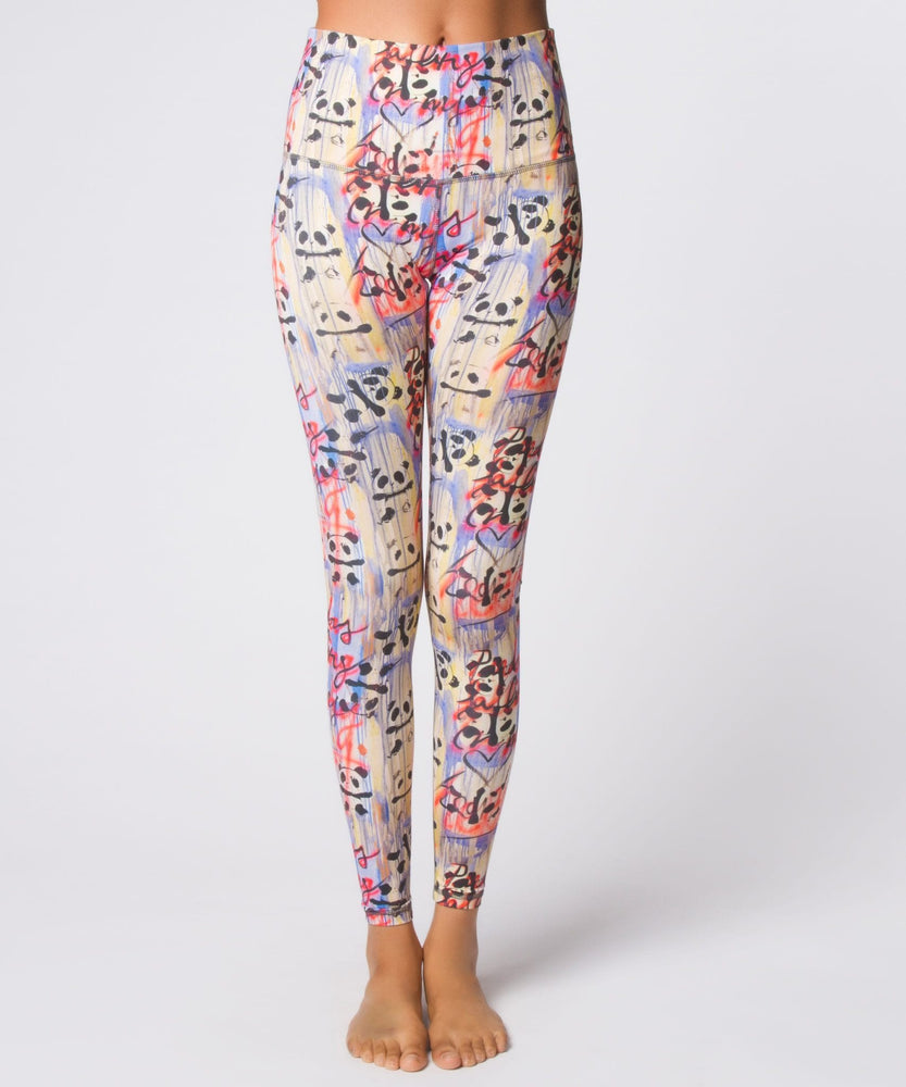 Yoga Democracy Leggings Graffiti Panda High Waist Legging