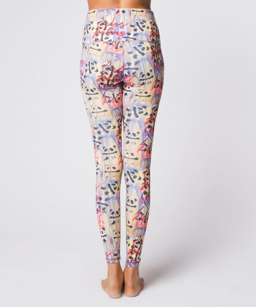 Yoga Democracy Women's Leggings Graffiti Panda High Waist Legging