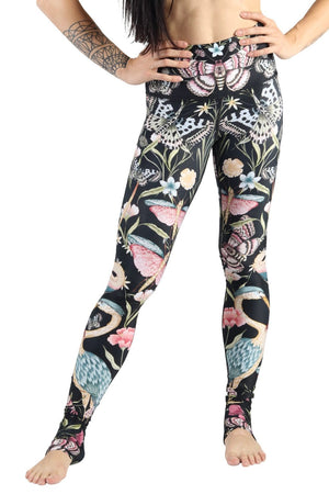 Yoga Democracy Leggings Pretty in Black Printed Yoga Legging