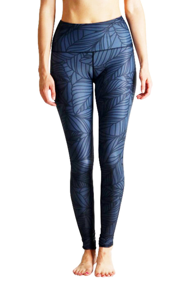 Yoga Democracy Leggings Urban Camo Yoga Legging - Slate