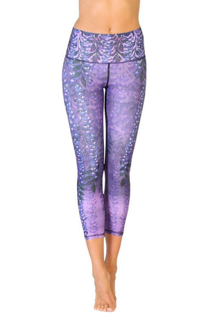 Yoga Democracy Leggings Wisteria Yoga Crops - Vault