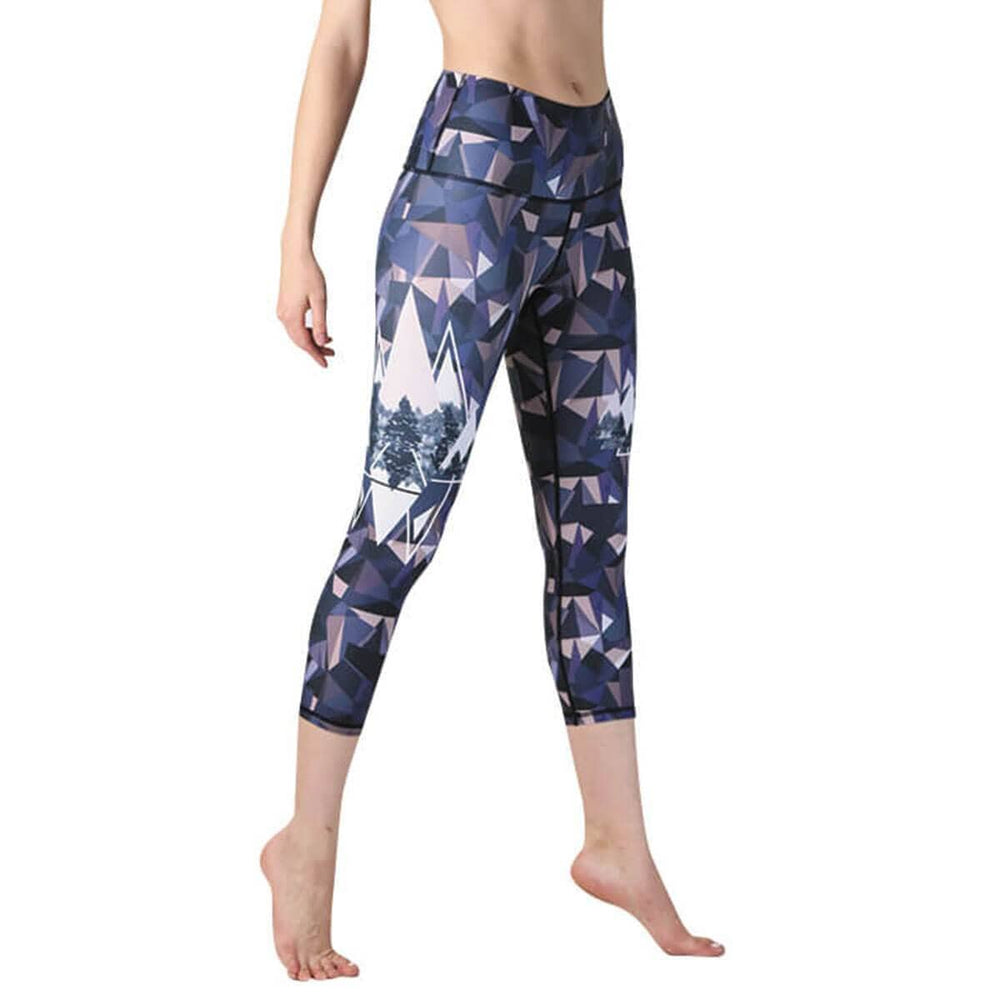 Kaleidoscape Printed Yoga Crops - Final Sale