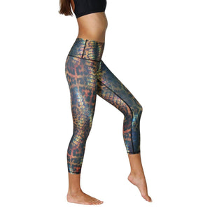 Yoga Democracy Leggings Animal Printed Yoga Crops - Vault
