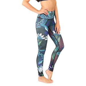American Made Leggings by Yoga Democracy Dragonfly Night Flight Yoga Leggings- FINAL SALE