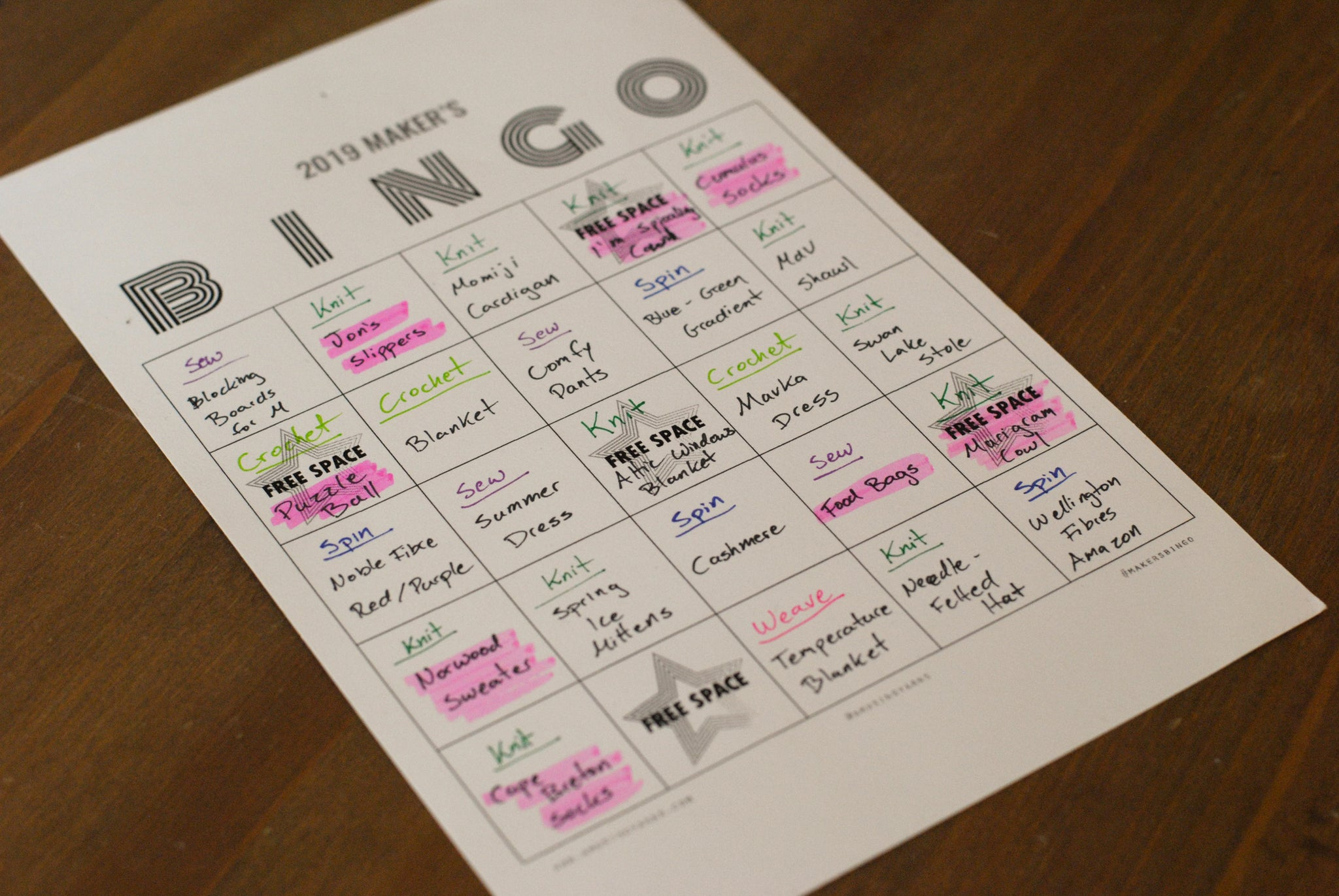 Maker's Bingo Update
