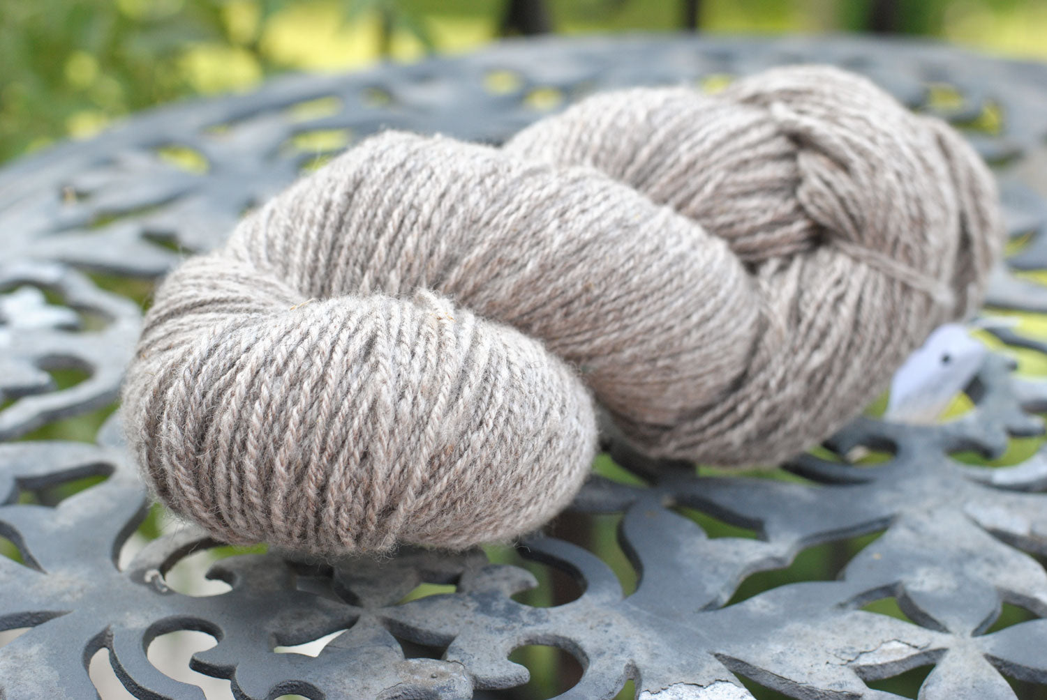 Grey 3-ply handspun yarn