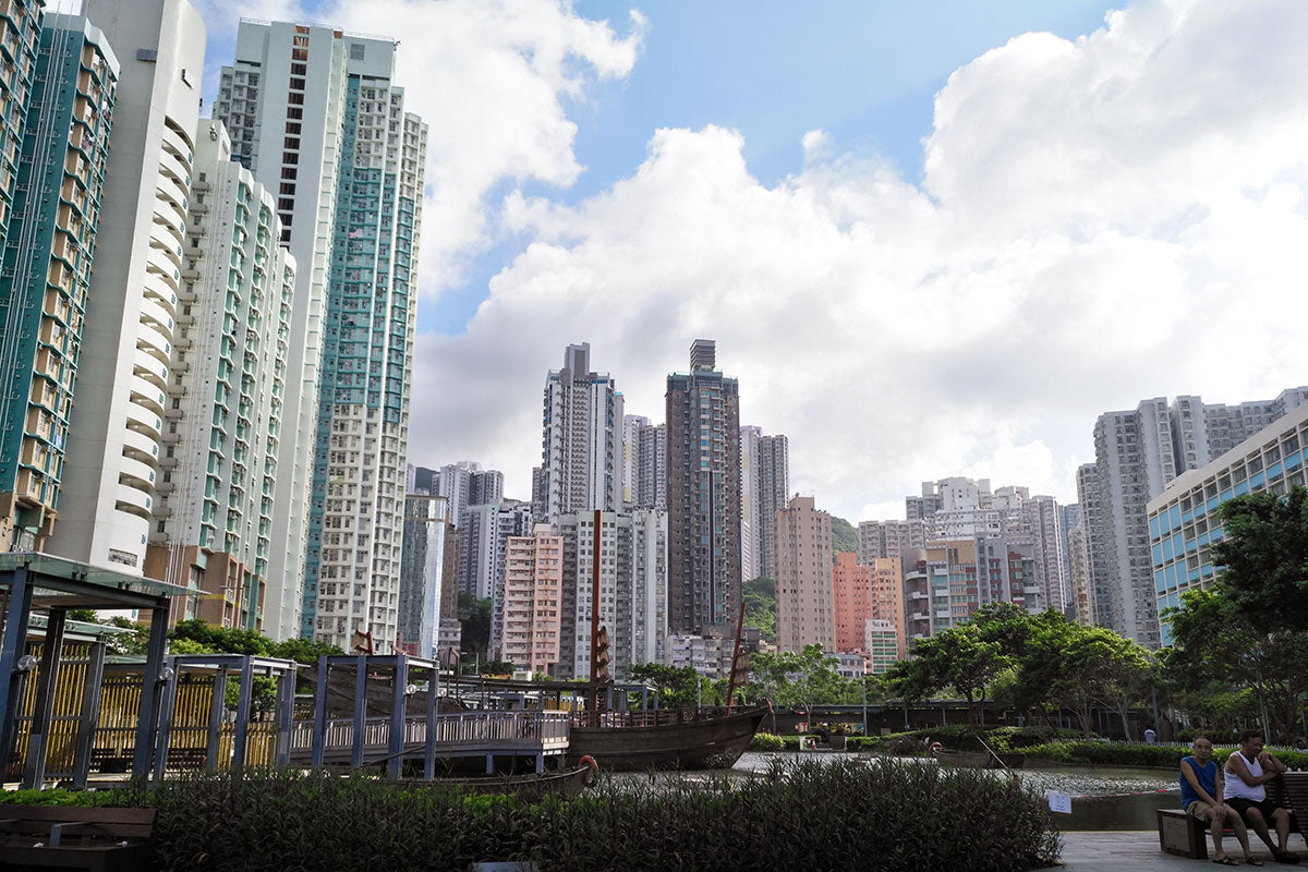 Skyscrapers on Hong Kong island