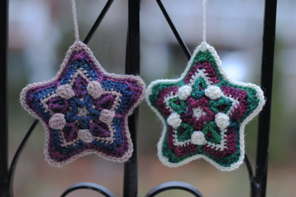 Starry Dream crocheted ornaments