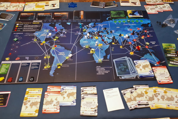 Pandemic Legacy game board