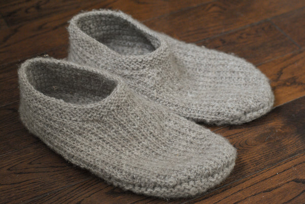 Corduroy casual knit slippers
