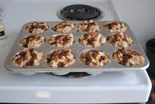 Muffins with optional topping