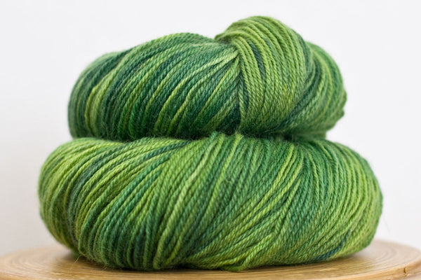 Tree frog Pizzicato hand-dyed sock yarn