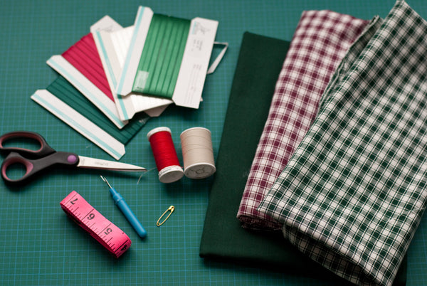 materials to make fabric gift bags