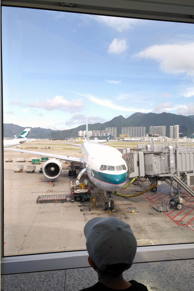 Hong Kong airport - going home