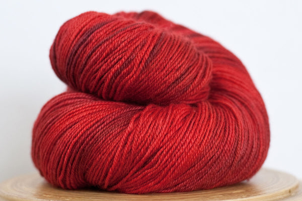 Pizzicato heartbeat hand-dyed sock yarn