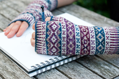 Portraiture Fingerless Mittens knitting pattern
