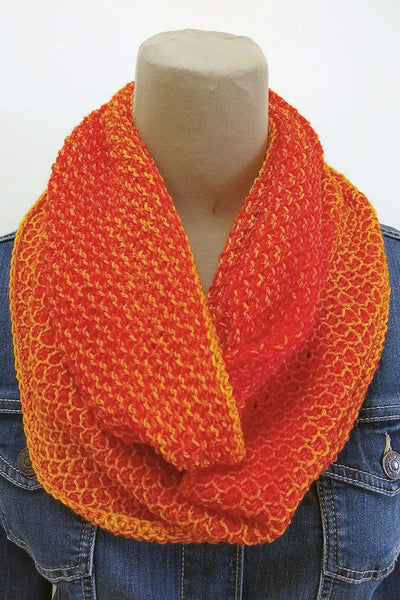 Sunny Honey infinity scarf Tunisian crochet pattern