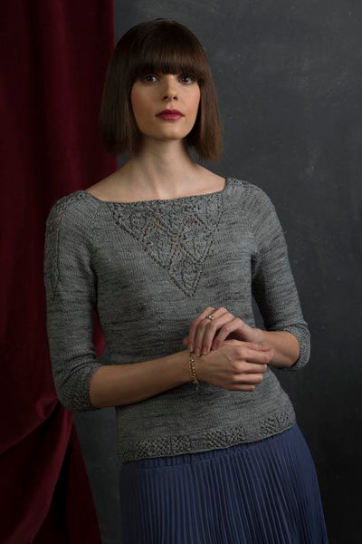 Front view of Victoria from Refined Knits