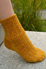Year of Plenty ankle socks with wheat-like textured pattern