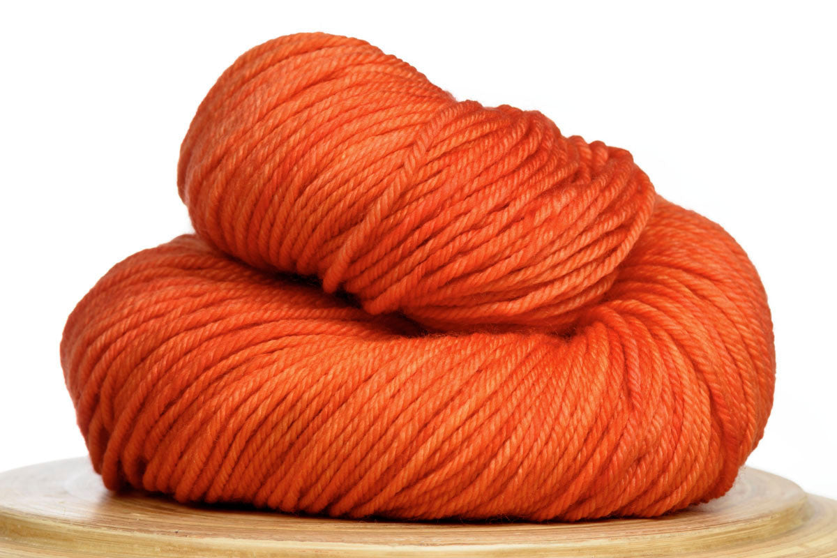 Andante hand-dyed worsted weight merino in Blood Orange