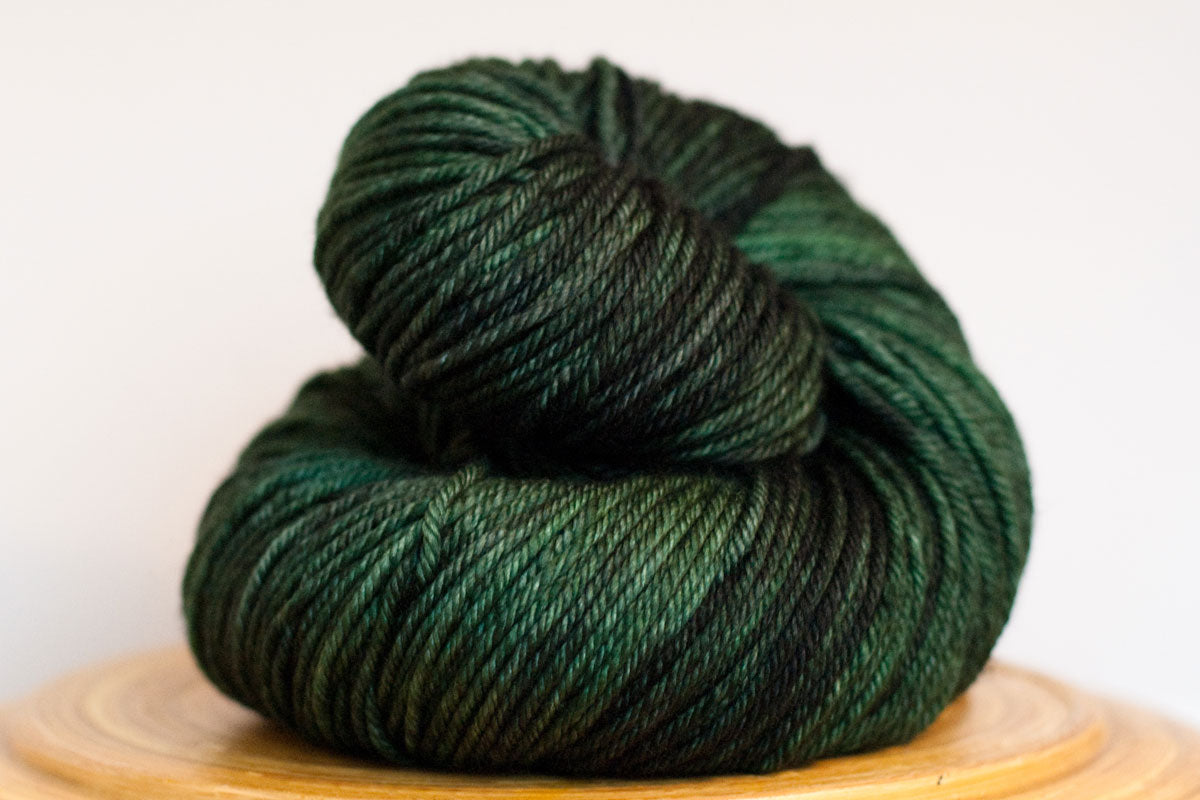 Andante hand-dyed worsted weight merino in Kelp
