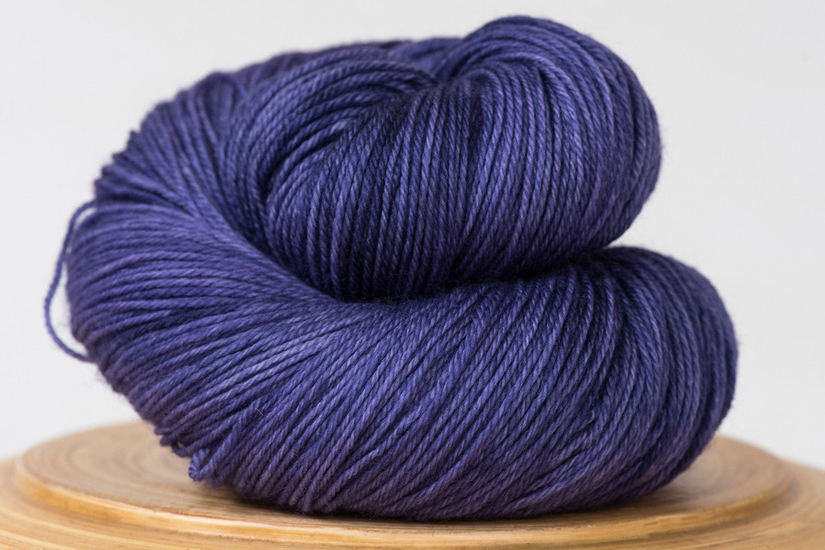 Deep purple semi solid fingering weight hand-dyed yarn