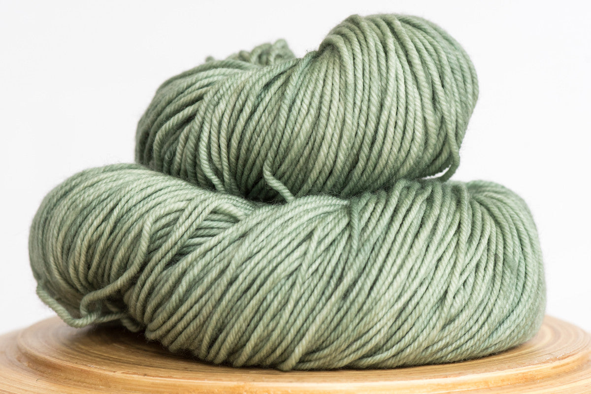 Cardamom pale green semi solid DK weight hand-dyed yarn