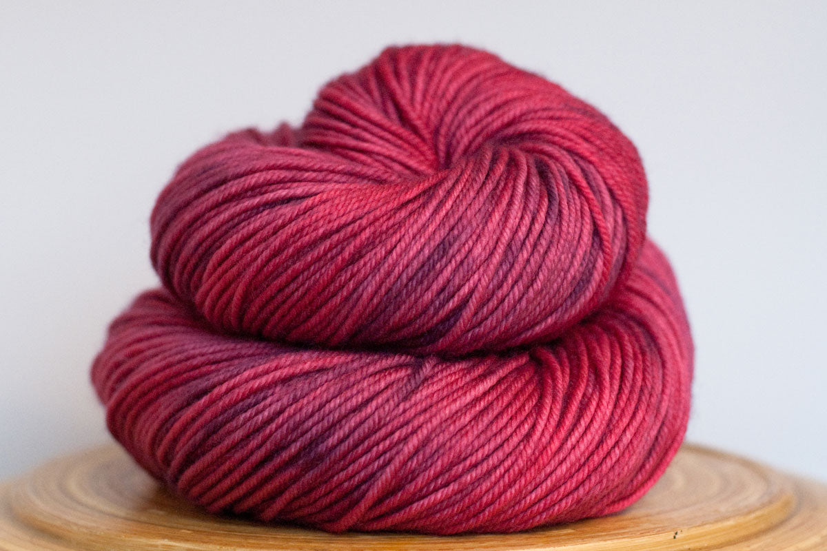Cosmopolitan bright pink semi solid DK weight hand-dyed yarn
