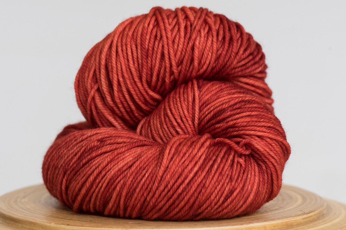Crushed chili deep orange semi solid DK weight hand-dyed yarn