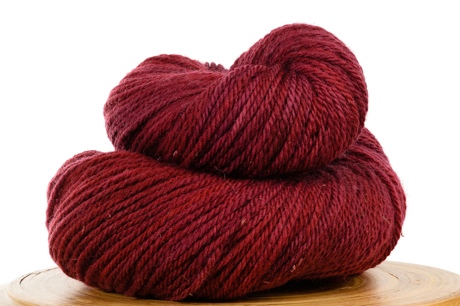 Canasta - burgundy red semi-solid hand-dyed DK weight wool