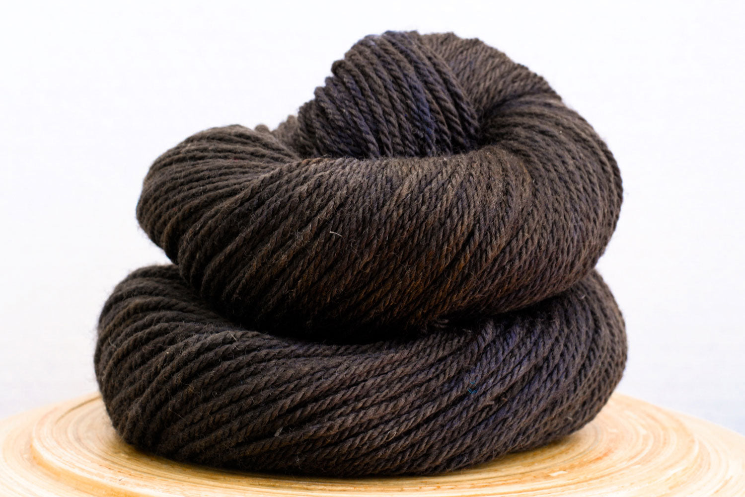 Mud Puddle - dark brown sem-solid hand-dyed DK weight wool