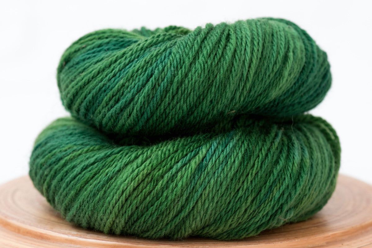 Four leaf clover - bright green Canadian hand-dyed DK weight wool