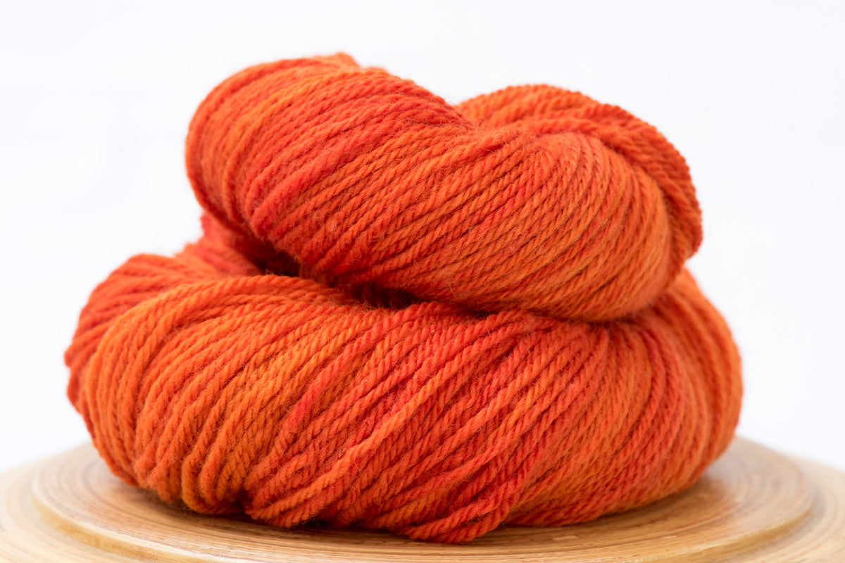 Orange Crush - bright orange Canadian hand-dyed DK weight wool