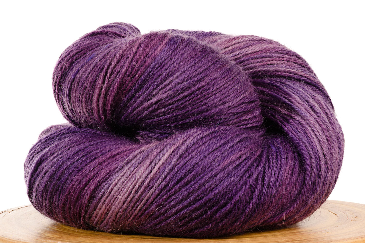 Pizzicato hand-dyed BFL sock yarn in Larkspur