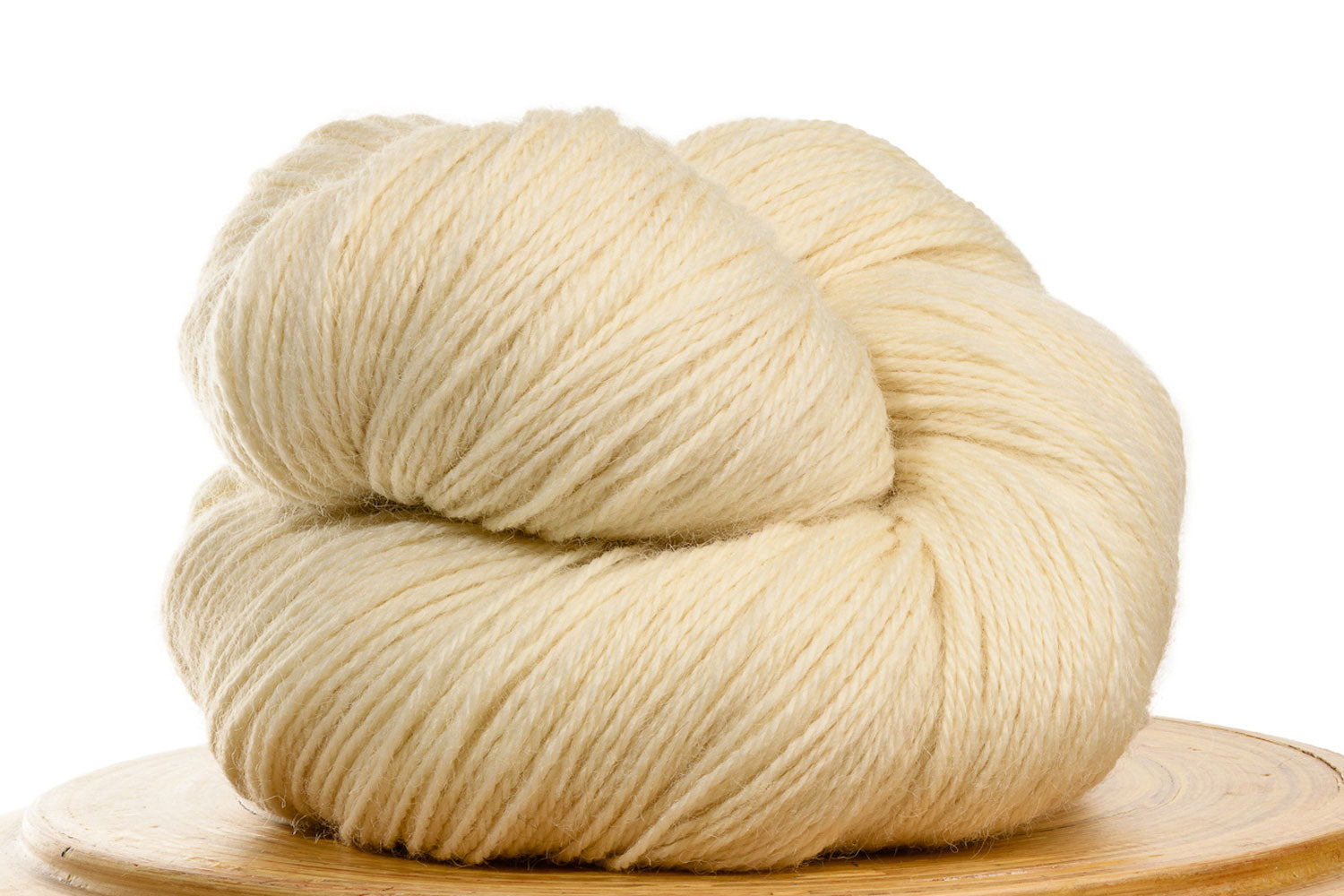 Pizzicato hand-dyed BFL sock yarn in Natural