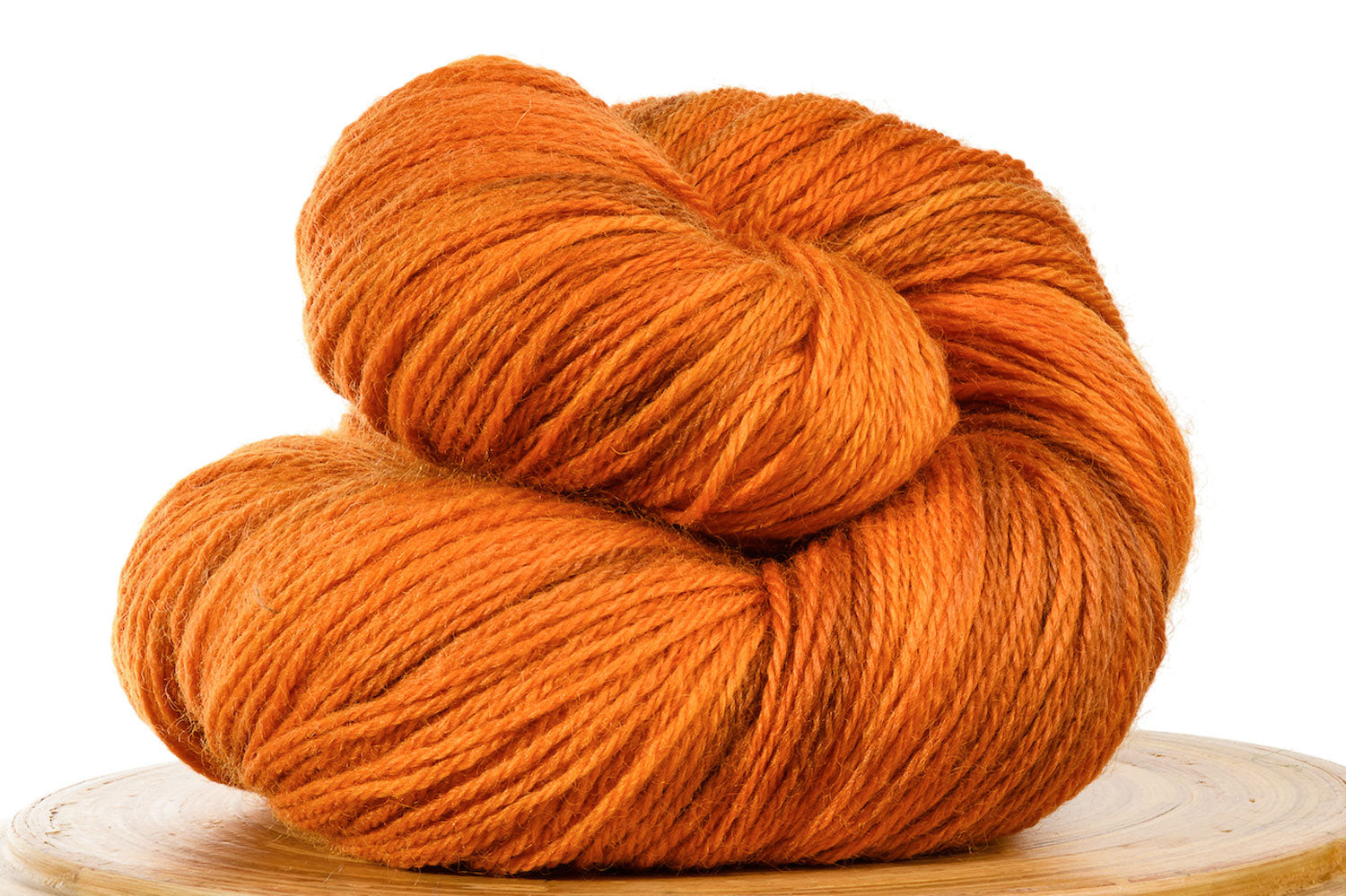Pizzicato hand-dyed BFL sock yarn in Pumpkin Spice