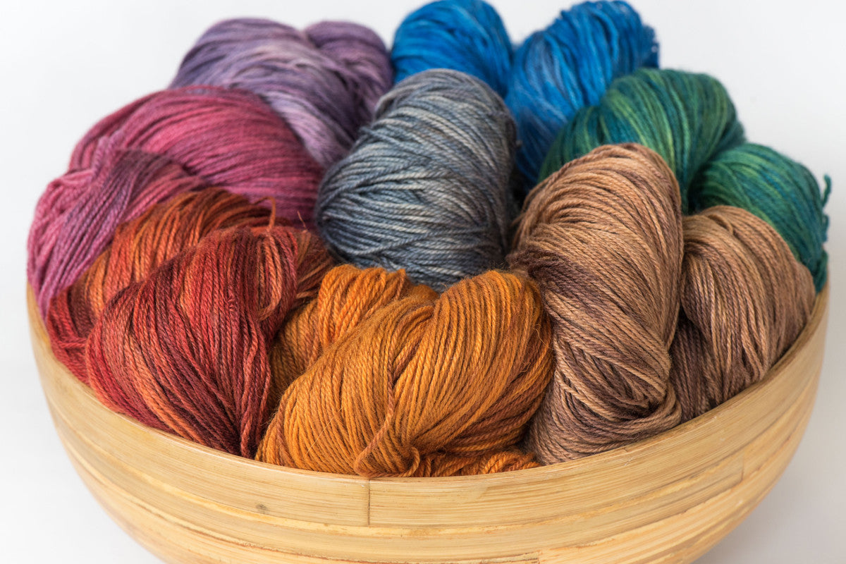 Pizzicato hand-dyed BFL/nylon sock yarn