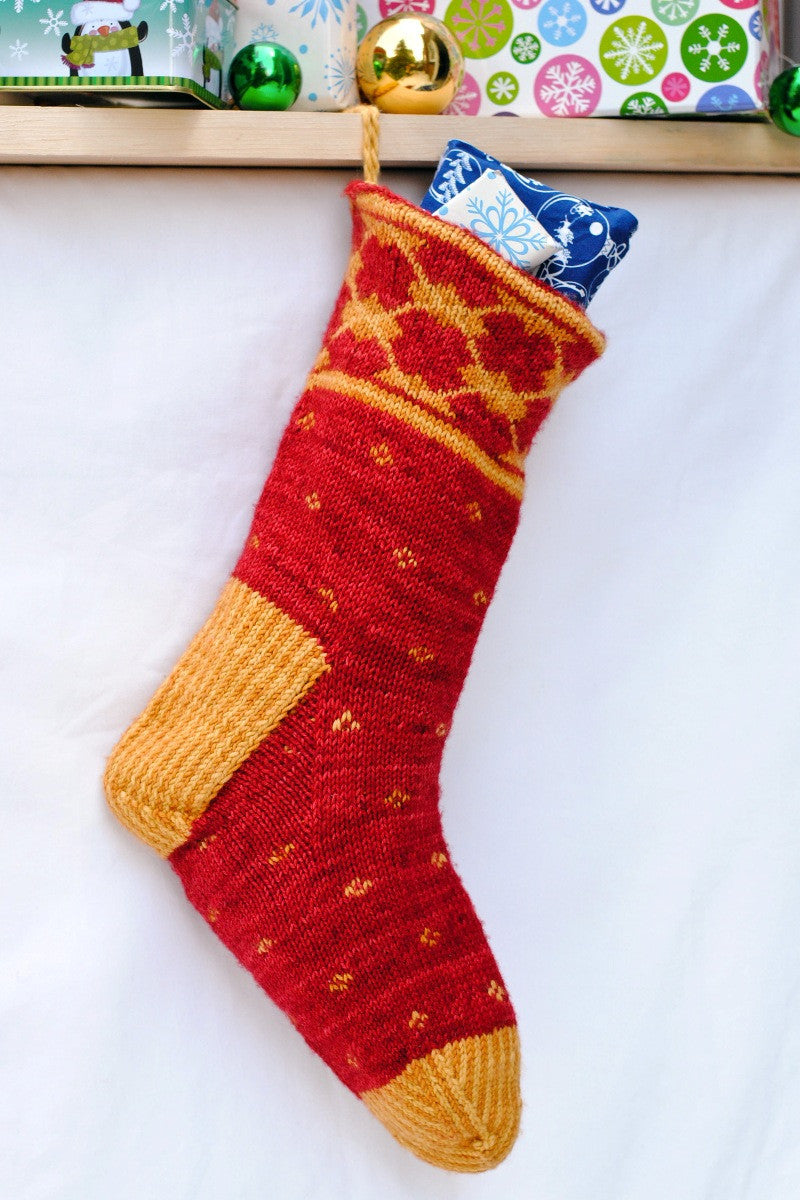 Argyle Christmas Stocking knitting pattern