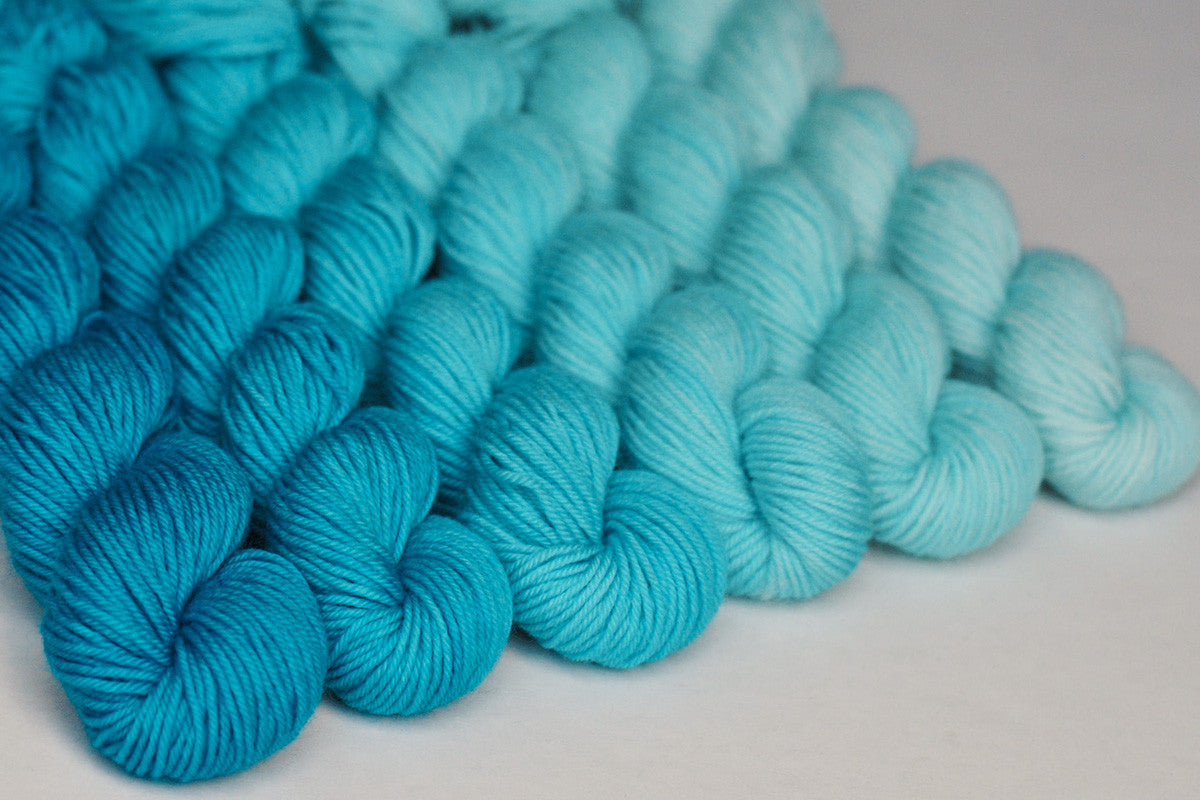 Crescendo hand-dyed gradient yarn set - Daydream