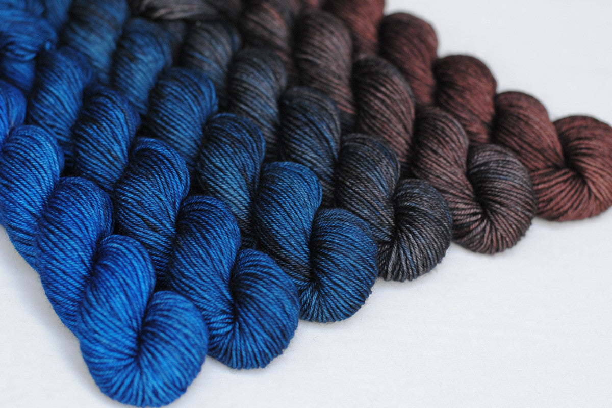 Crescendo hand-dyed gradient yarn set - Gaia